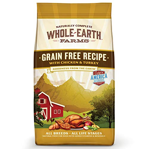 Whole Earth Farms Grain Free Recipe Dry Dog Food, Salmon & Whitefish, 25-Pound