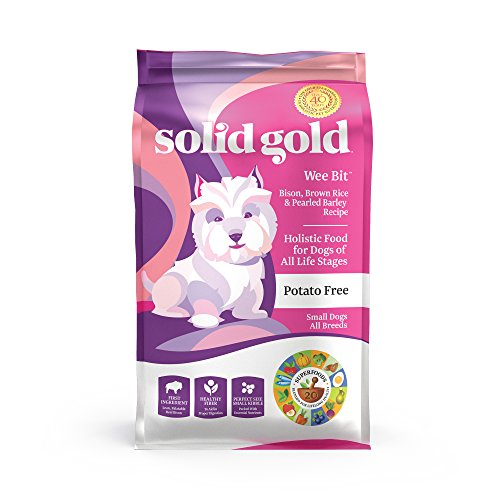 Solid Gold - Wee Bit With Real Bison, Brown Rice & Pearled Barley - Potato Free - Fiber Rich with Probiotic Support -...