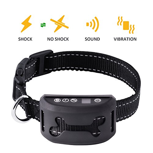 BARK SOLUTION Rechargeable Anti Dog Bark Collar with 7 Adjustable Sensitivity and Intensity Levels Harmless Bark Collars...