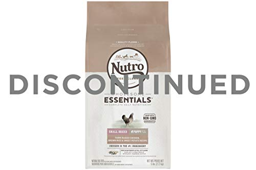 NUTRO WHOLESOME ESSENTIALS Small Breed Puppy Natural Dry Dog Food Farm-Raised Chicken, Brown Rice & Sweet Potato Recipe...