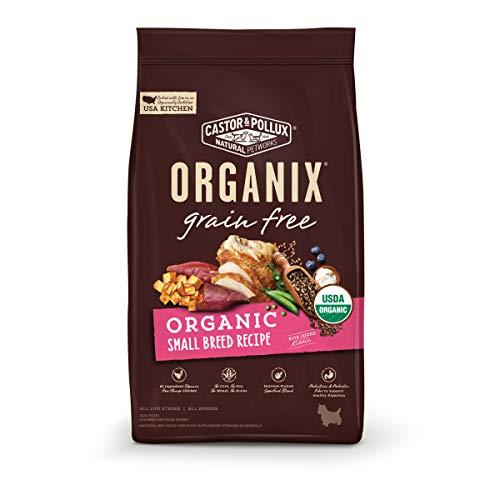 Castor & Pollux ORGANIX Grain Free Organic Small Breed Recipe Grain Free Dry Dog Food - 4 lb. Bag(Pack of 1)