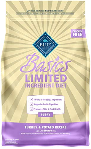 Blue Buffalo Blue Basics Limited Ingredient Formula Turkey & Potato Dry Puppy Food, 11 lbs.
