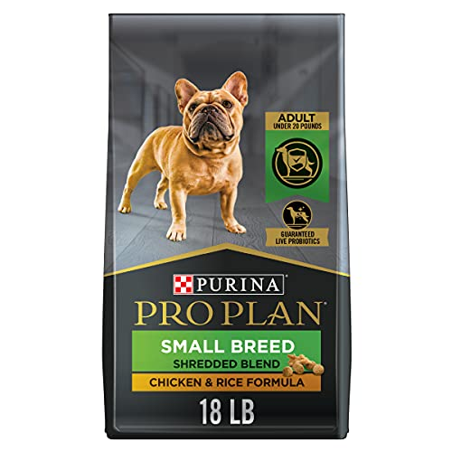 Purina Pro Plan Small Breed Dog Food With Probiotics for Dogs, Shredded Blend Chicken & Rice Formula - 18 lb. Bag