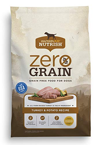 Rachael Ray Nutrish Zero Grain Natural Dry Dog Food, Turkey & Potato Recipe, 6 Pounds, Grain Free