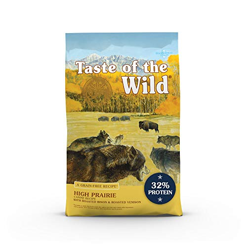 Taste of the Wild High Prairie Canine Grain-Free Recipe with Roasted Bison and Venison Adult Dry Dog Food, Made with...