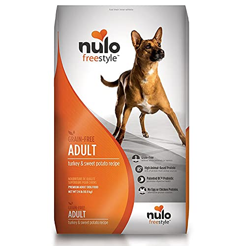 Nulo Adult Grain Free Dog Food: All Natural Dry Pet Food For Large And Small Breed Dogs (Turkey, 24Lb)