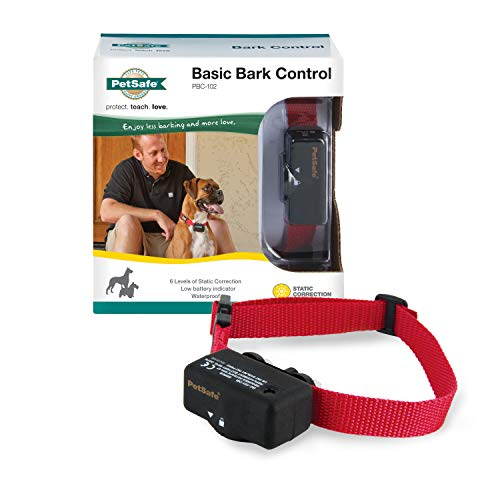 PetSafe Basic Bark Control Collar for Dogs 8 lb. and Up, Anti-Bark Training Device, Waterproof, Static Correction,...