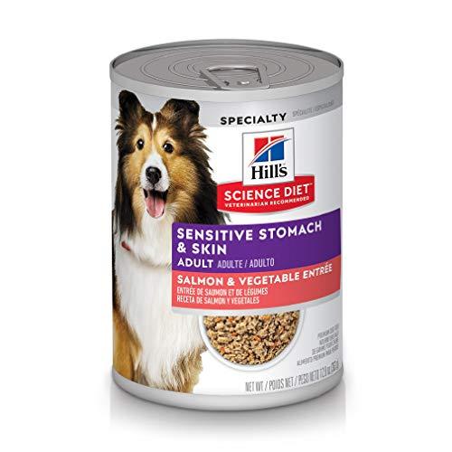 Hill's Science Diet Wet Dog Food, Adult, Sensitive Stomach & Skin, Chicken & Vegetable Entrée, 12.8 oz, 12-pack