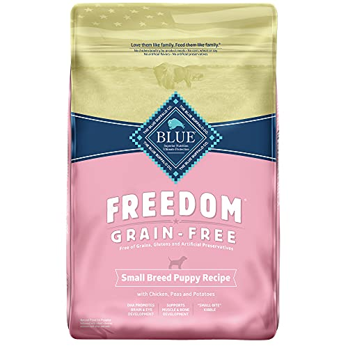 Blue Buffalo Freedom Grain Free Natural Puppy Small Breed Dry Dog Food, Chicken 11-lb