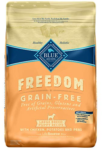Blue Buffalo Freedom Grain Free Natural Puppy Large Breed Dry Dog Food, Chicken 24-lb