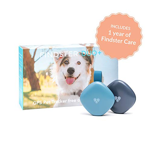 Findster Duo+ Pet Tracker Free of Monthly Fees - GPS Tracking Collar for Dogs and Cats & Pet Activity Monitor - Includes...