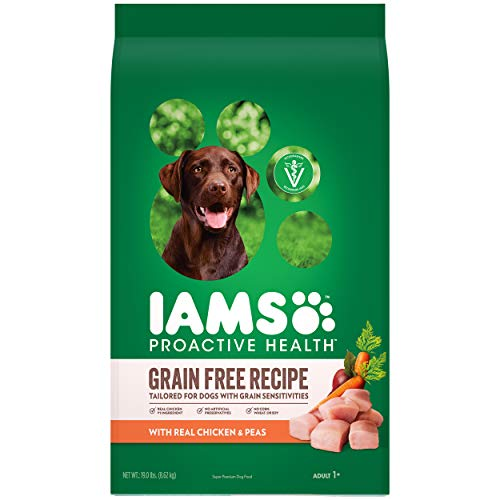 DISCONTINUED BY MANUFACTURER: IAMS ProActive Health Sensitive Skin & Stomach Grain Free Dog Food – with Real Chicken...