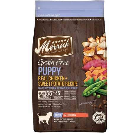 Merrick Grain Free Puppy Chicken Sweet Potato Recipe Dry Dog Food (25 lb)