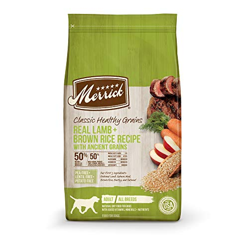 Merrick Dry Dog Food with added Vitamins & Minerals for All Breeds, 25-Pound, Lamb
