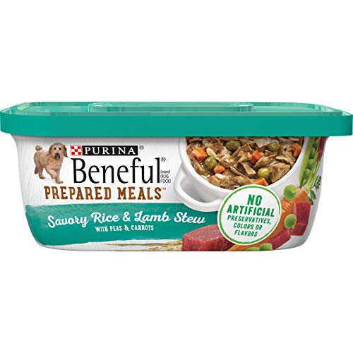 Purina Beneful Gravy Wet Dog Food, Prepared Meals Savory Rice & Lamb Stew - (8) 10 oz. Tubs