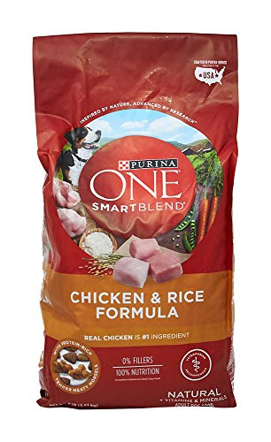 Purina ONE Dry Dog Food, SmartBlend Chicken and Rice Formula, 8 Lb Bag