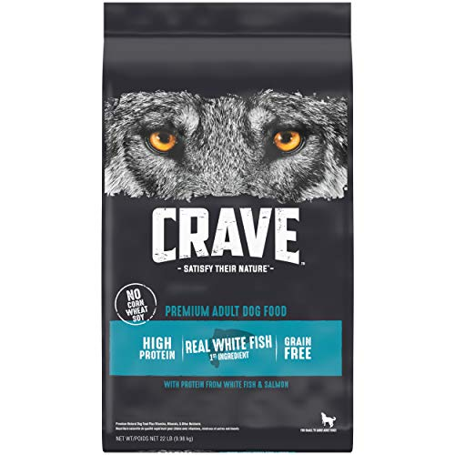CRAVE Grain Free Adult High Protein Natural Dry Dog Food with Protein from Salmon and Ocean Fish, 22 lb. Bag