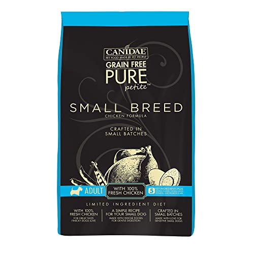Canidae Grain Free Pure Petite Small Breed Adult Dog Dry Formula With Fresh Chicken, 3 Lbs