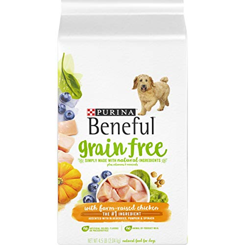 Purina Beneful Grain Free, Natural Dry Dog Food, Grain Free With Real Farm Raised Chicken - 4.5 lb. Bag