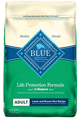 Blue Buffalo Life Protection Formula Adult Dog Food – Natural Dry Dog Food for Adult Dogs – Lamb and Brown Rice –...