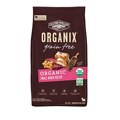 Castor & Pollux Organix Grain Free Organic Small Breed Recipe Grain Free Dry Dog Food - 4 lb. Bag (Pack of 1)