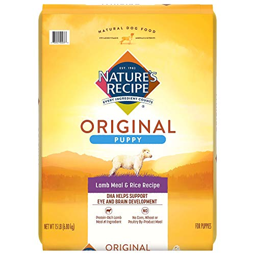 Nature's Recipe Puppy Dry Dog Food, Lamb Meal & Rice Recipe, 15 Pounds