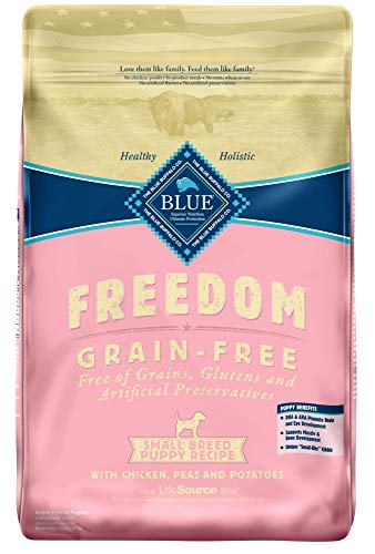 Blue Buffalo Freedom Grain Free Natural Puppy Small Breed Dry Dog Food Chicken 11-lb