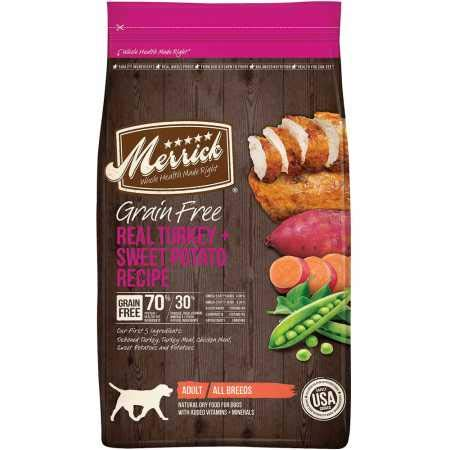 Merrick Grain Free Real Turkey Sweet Potato Recipe Dry Adult Dog Food (25 lb)