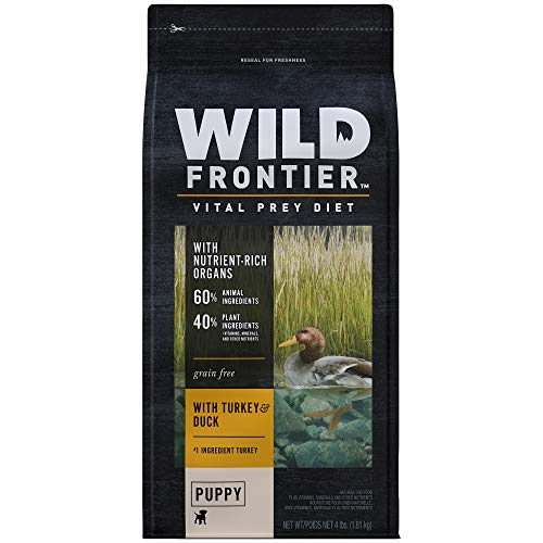 DISCONTINUED BY MANUFACTURER:WILD FRONTIER VITAL PREY Puppy Dry Dog Food with Turkey & Duck, 4 Pound Bag