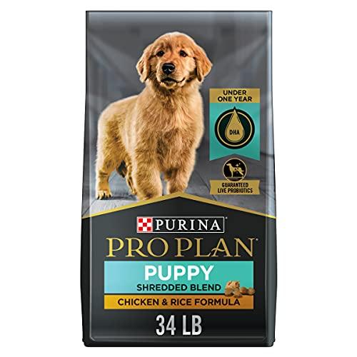 Purina Pro Plan High Protein Puppy Food Shredded Blend Chicken & Rice Formula - 34 lb. Bag