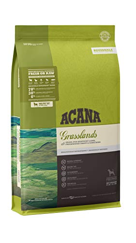 ACANA Grain Free Dry Dog Food, High Protein, Freeze-Dried Coated, Lamb, Duck, Trout, and Quail, 25lb