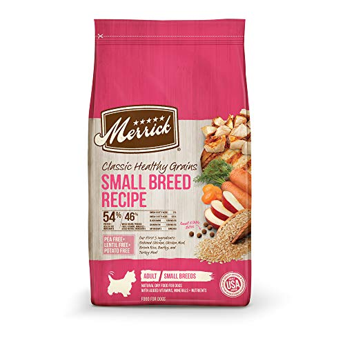 Merrick Classic Healthy Grains Small Breed Recipe Dry Dog Food, 4 lb, brown (295282)
