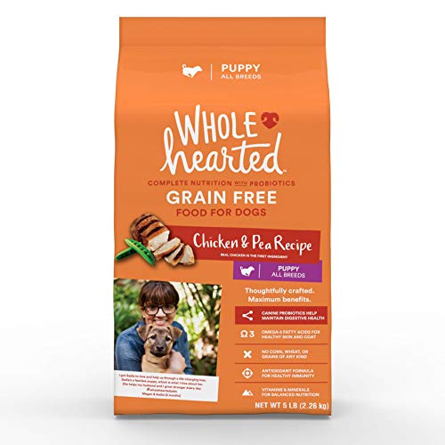 WholeHearted Grain Free Chicken and Pea Recipe Dry Puppy Food, 14 lbs.