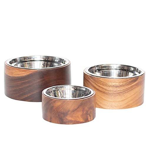 Unleashed Life Anderson Collection – Stainless Steel Pet Dog & Cat Food Bowl