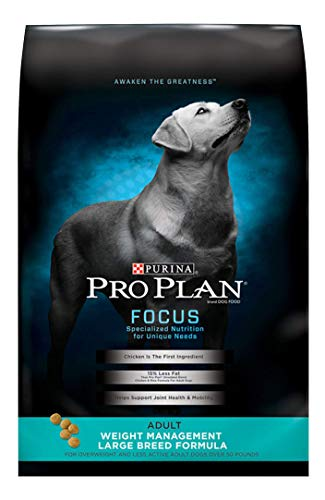 Purina Pro Plan Low Fat Large Breed Weight Management Dry Dog Food, FOCUS Weight Management Large Breed Formula - 34 lb....