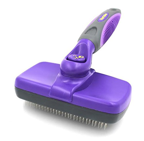 Hertzko Self Cleaning Slicker Brush – Gently Removes Loose Undercoat, Mats and Tangled Hair – Your Dog or Cat Will...