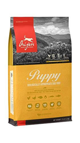 ORIJEN Puppy Dog Food, Grain Free, High Protein, Fresh & Raw Animal Ingredients, 25lb