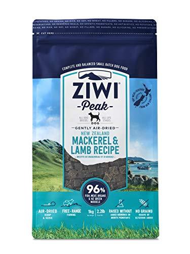 Ziwi Peak Air-Dried Mackerel & Lamb Recipe Dog Food (2.2lb), Model:ZPDDM1000P