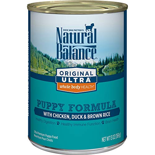 Natural Balance Original Ultra Whole Body Health Puppy Wet Dog Food, Chicken, Duck & Brown Rice Formula, 13 Ounce Can...