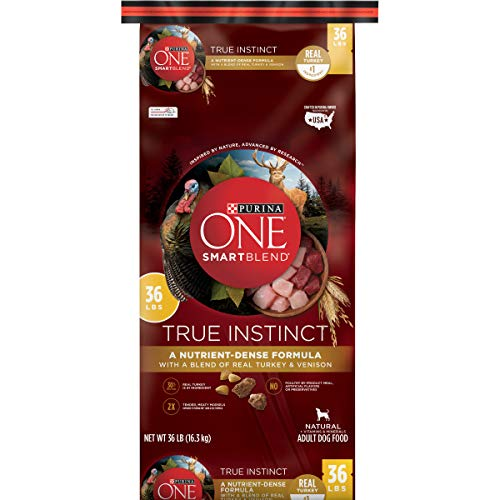 Purina ONE High Protein Natural Dry Dog Food, SmartBlend True Instinct With Real Turkey & Venison - 36 lb. Bag