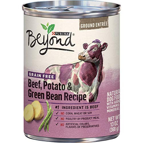 Purina Beyond Grain Free Beef, Potato & Green Bean Recipe Ground Entree Adult Wet Dog Food - (12) 13 oz. Cans (Packaging...