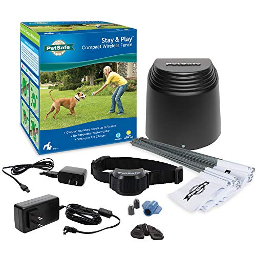 PetSafe Stay & Play Compact Wireless Fence for Dogs and Cats – from the Parent Company of Invisible Fence Brand –...
