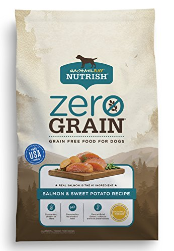 Rachael Ray Nutrish Zero Grain Natural Dry Dog Food, Salmon & Sweet Potato Recipe, 4 Pounds, Grain Free
