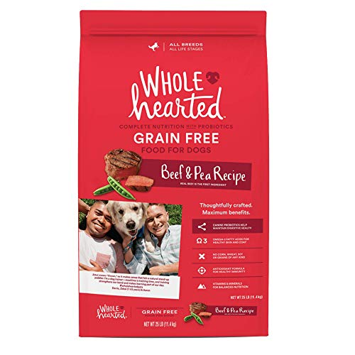 WholeHearted Grain Free All Life Stages Beef & Pea Formula Dry Dog Food, 25 lbs.