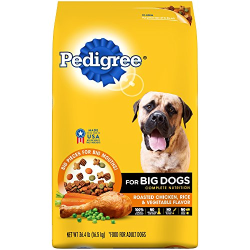 PEDIGREE For Big Dogs Adult Complete Nutrition Large Breed Dry Dog Food Roasted Chicken, Rice & Vegetable Flavor Dog...