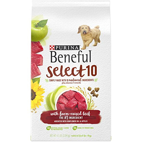 Purina Beneful Natural Dry Dog Food, Select 10 With Farm Raised Beef - 4.5 lb. Bag