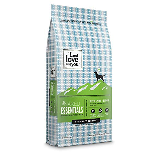'I and love and you' Naked Essentials Dry Dog Food - Natural Grain Free Kibble, Lamb + Bison, 11-Pound Bag