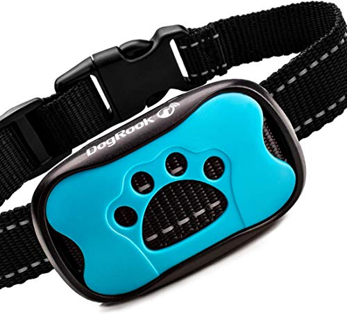DogRook Rechargeable Bark Collar - Humane, No Shock Training Collar - Action Without Remote - Vibration & Sound Care...