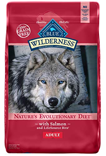 Blue Buffalo Wilderness High Protein Grain Free, Natural Adult Dry Dog Food, Salmon 11-lb