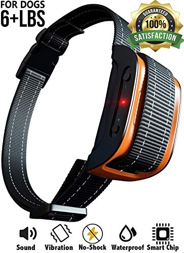 No Shock Bark Collar for Small to Large Dogs - Smart Chip Adjusts to Stop Barking in 1 Minute - Highly Effective...